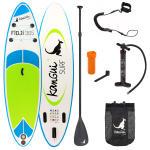 Stand up paddle 305cm sup gonflable + pagaie + sac à dos + pompe haute pression + leash + kit de réparation- fidji
