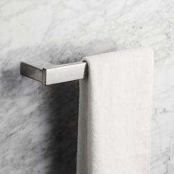 Porte-serviettes contemporain en acier inoxydable poli miroir