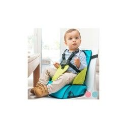Chaise haute portable en textile avec réhausseur