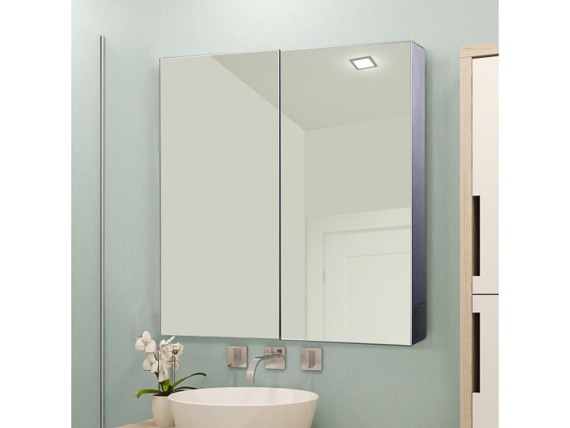 Armoire glace armoire pharmacie miroir double porte 3 - Armoire a glace salle de bain ...