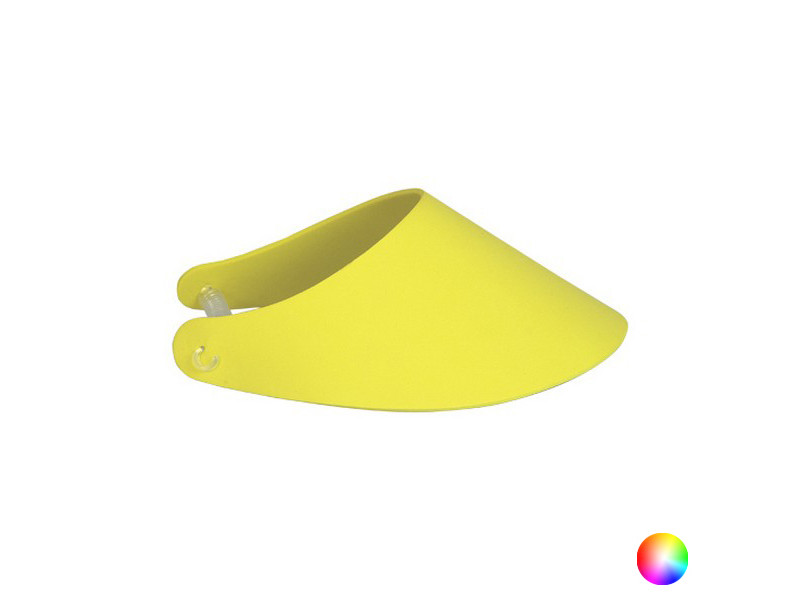 Plage et piscine stylé couleur jaune visière unisexe 149705