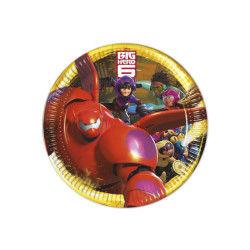 Assiettes en carton les nouveaux héros x 8