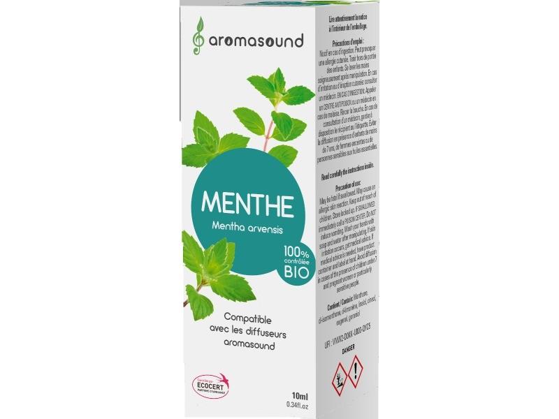 Synergie huiles essentielles aromasound parfum menthe 10 ml
