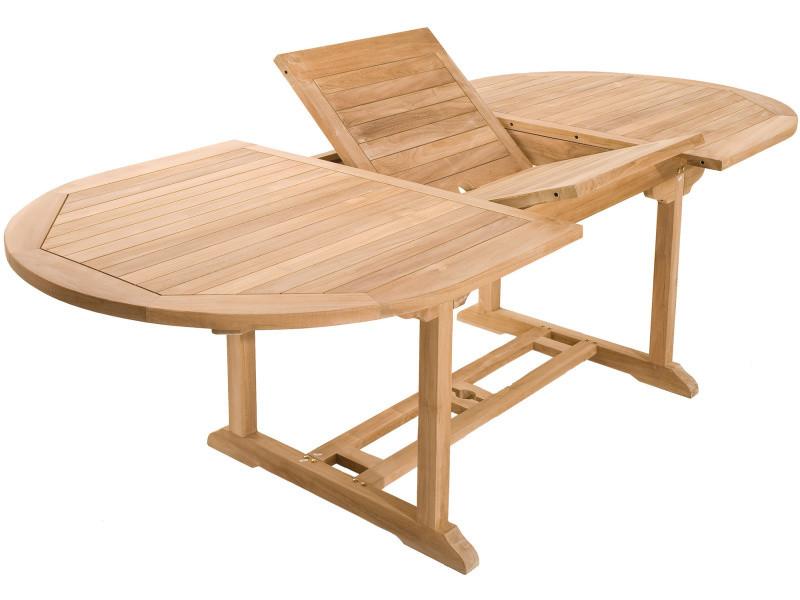 Table de jardin extensible 180-240 cm en bois de teck massif ...