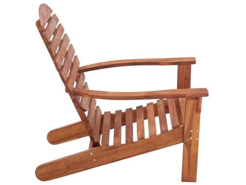 Vidaxl chaise adirondack bois d'acacia massif 46321