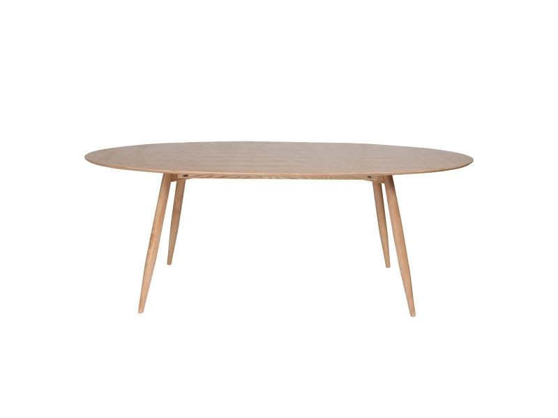 Table à manger ovale frêne naturel 200 cm baltik