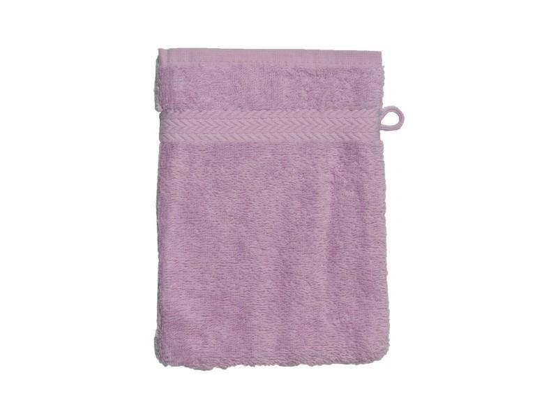 Gant de toilette 16 x 22 cm en coton couleur parme 16x22 cm