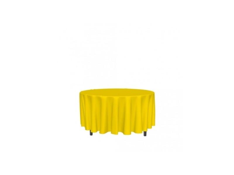 Nappe ronde anti-tâches alix - d 180 cm - jaune
