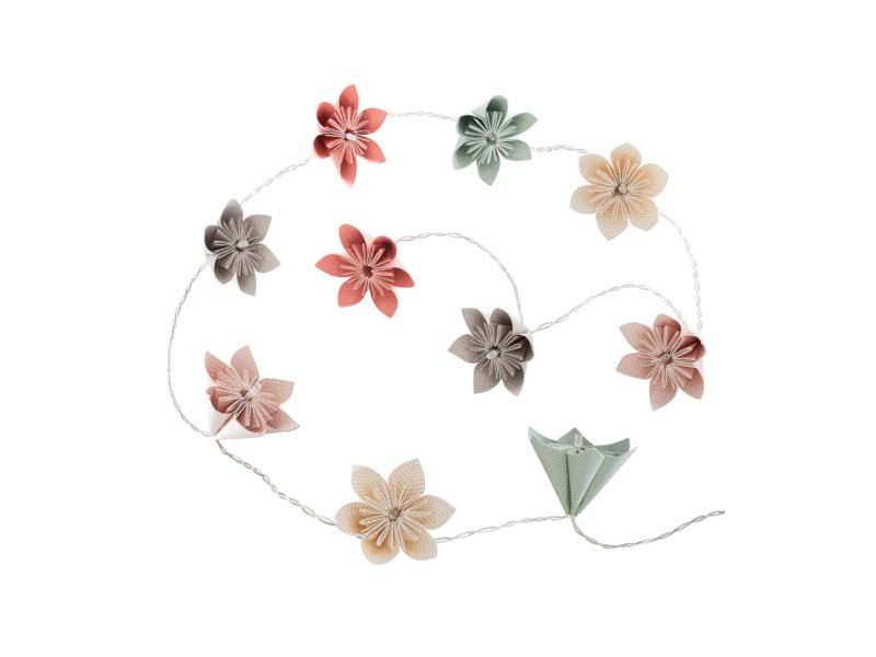 Atmosphera - guirlande 10 led fleurs pastels à piles