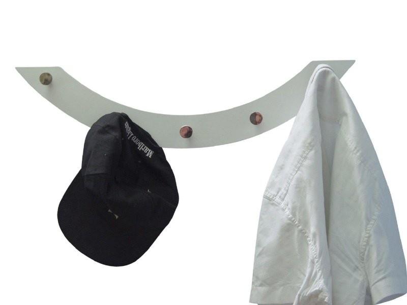 Porte-manteau mural en mdf couleur blanc 15x60x7cm med05065