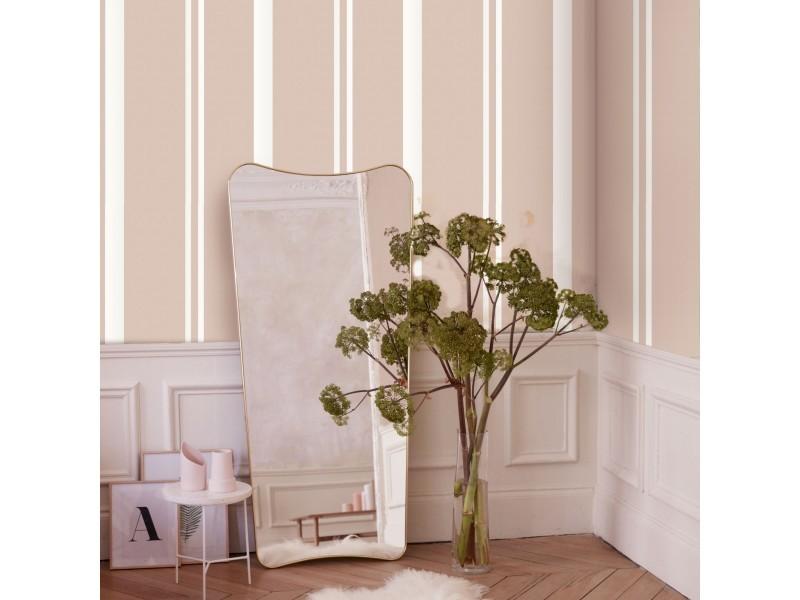 Papier peint intissé simplicity rayures grainé 1005 x 52cm rose, blanc 104099