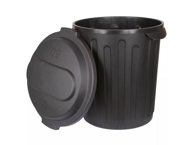 Kerbl bac d'alimentation pour chevaux 60 l noir en plastique 323474 406427