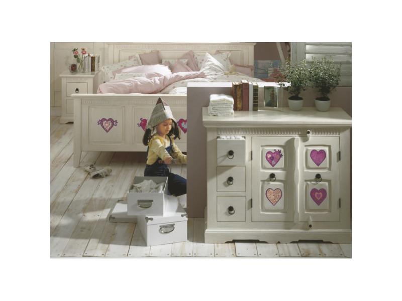 Valentine, sticker mural 8 grands cœurs roses et violets - 50x70 cm