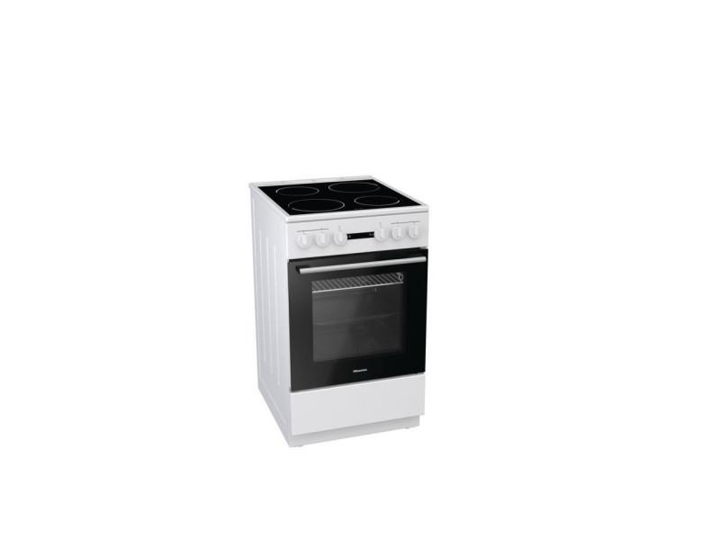 He51011aw - cuisiniere table vitrocéramique-4 foyers - four électrique-68l- classe énergétique a - l50xh85 - blanc HIS3838782492853