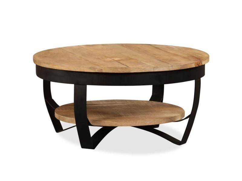 Stylé consoles reference praia table basse bois massif de manguier 65 x 32 cm