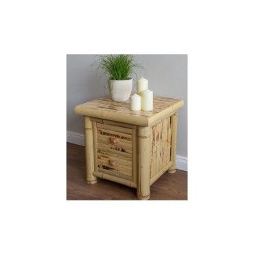 Bambou table de nuit commode bois naturel vernis 339 - Vente de HOMESTYLE4U - Conforama