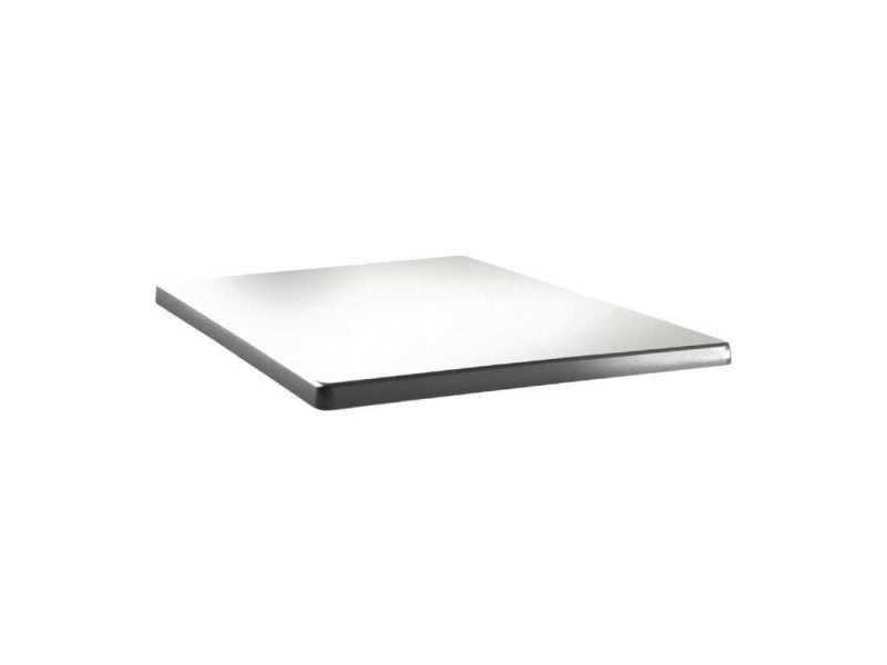 Plateau de table carré 80 cm - blanc pur topalit - bois