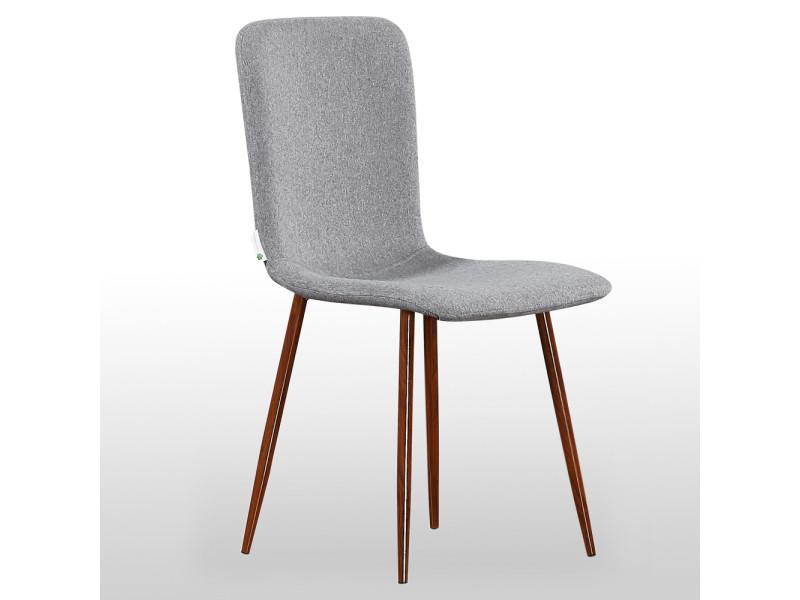 Chaise design en tissu grise