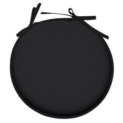 Galette de chaise ronde 100% polyester nelson noir