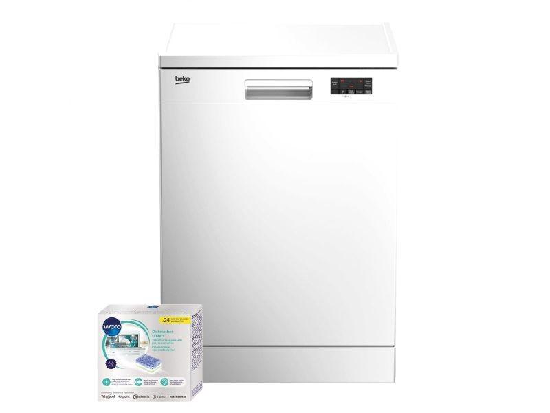Lave vaisselle posable blanc 47db a+ 13 couverts 60cm moteur à induction