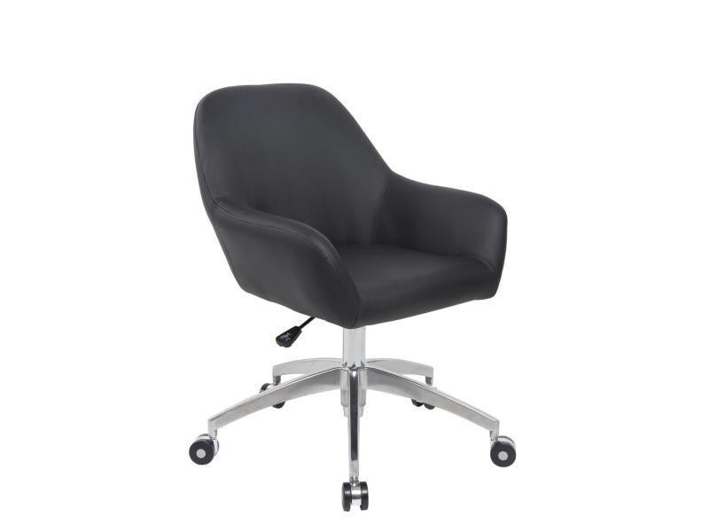 Kayelles capa chaise de bureau design piétement alu poli noir 572
