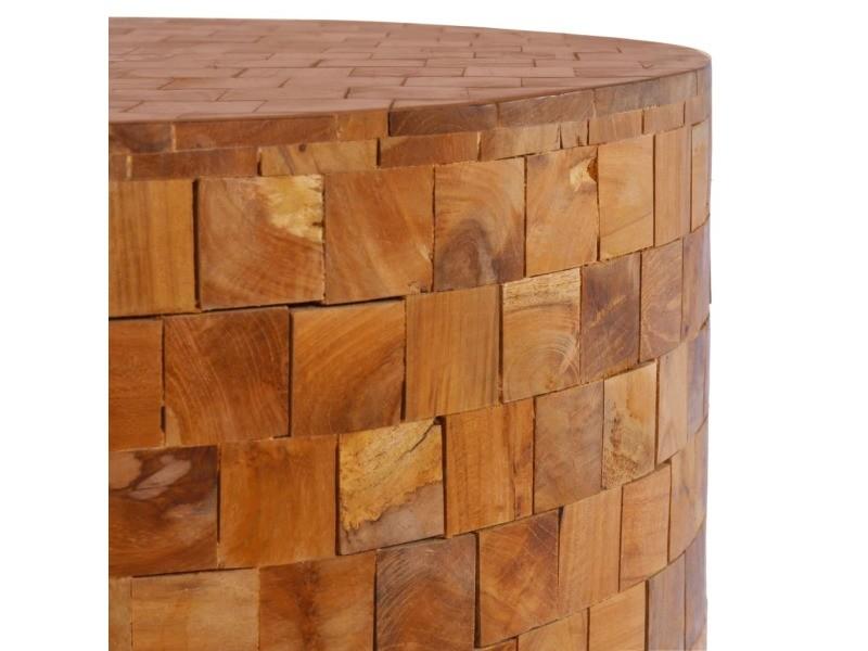 Vidaxl table basse 60x60x35 cm bois de teck massif 288811