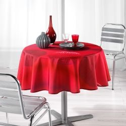 Nappe ronde polyester kosmo rouge 180 cm