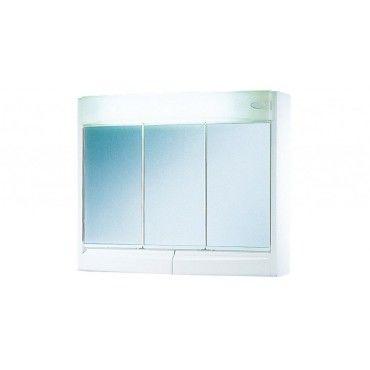Armoire glace largeur 60 cm blanc avec clairage - Armoire a glace salle de bain ...