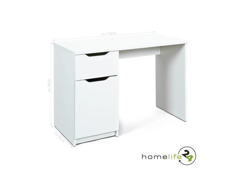 Bureau meuble informatique un tiroir et une porte rangement