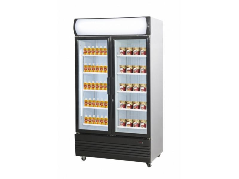 Armoire réfrigérée bi-température vitrée - 2 x 466 litres - combisteel - r290 2 portes vitrée