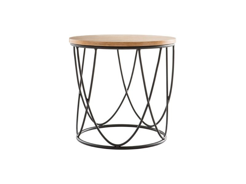 Table d'appoint bois et métal 42 cm lace