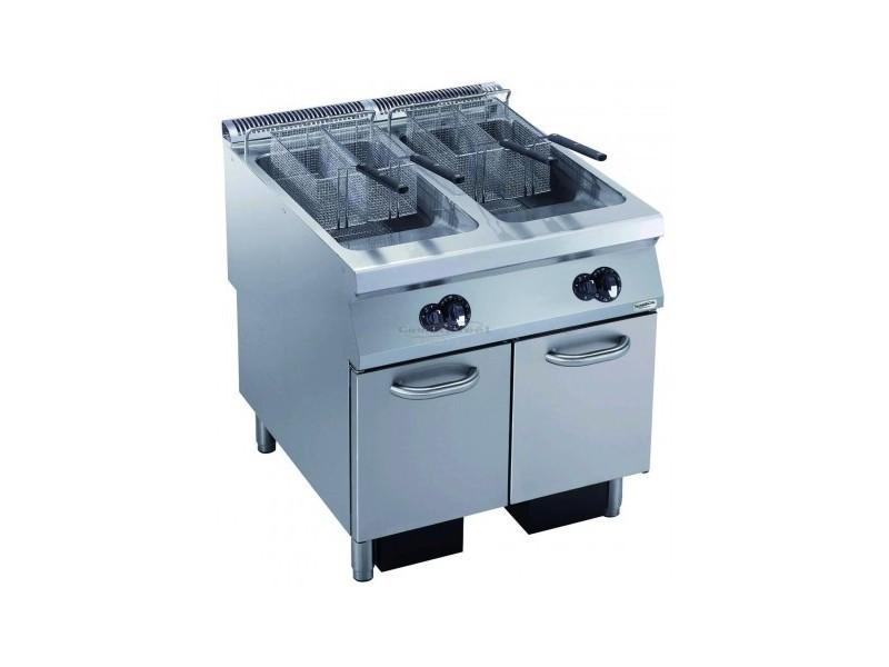 Friteuse à gaz pro - 2 x 23 litres - 40 kw - combisteel -
