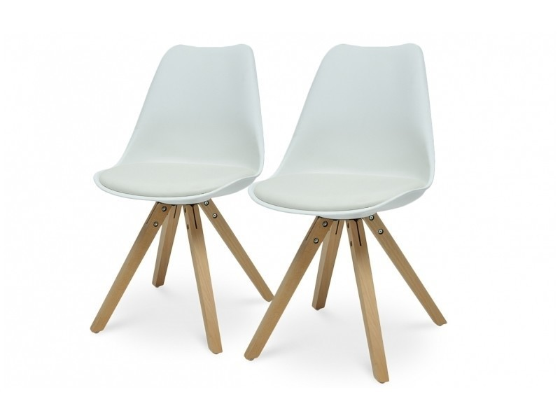 Lot de 2 chaises scandinave coloris blanc Vente de Chaise