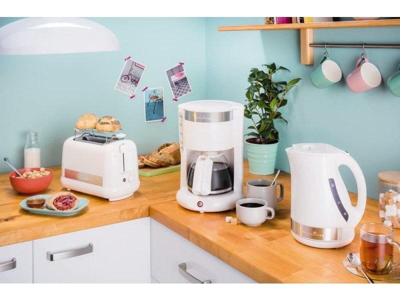 Cafetière électrique de 1,25l pour 10 a 15 tasses blanc