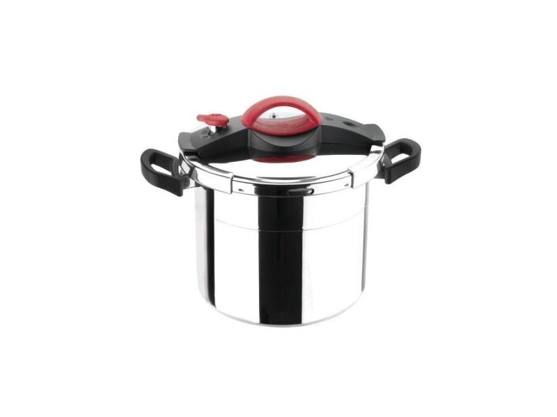 Sitram autocuiseur sitrapro avec panier vapeur - 10 l - o 24 cm - gris, rouge et noir - tous feux dont induction 711164