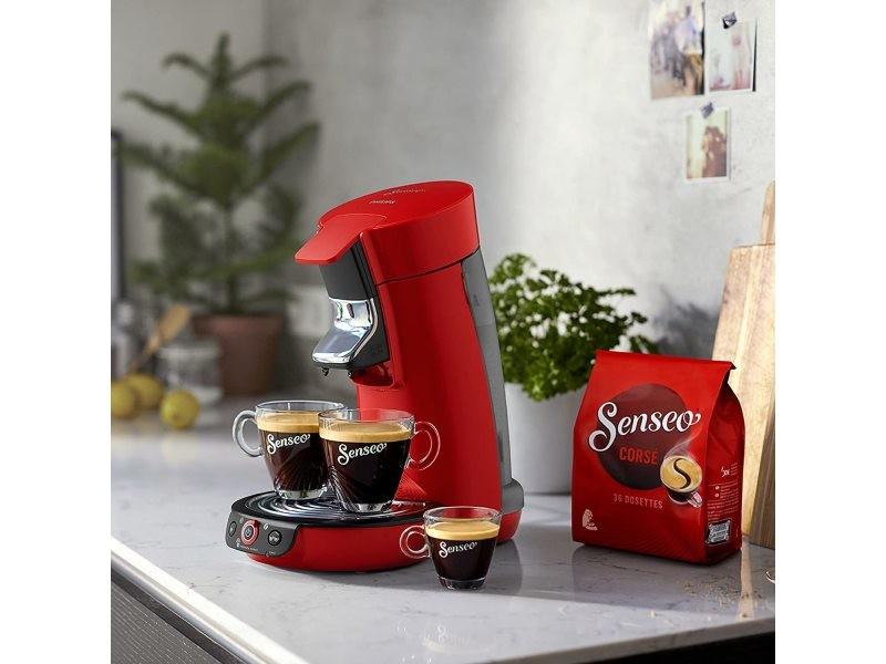 Machine à café de 0,9l 1450w noir rouge