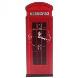 Horloge cabine de téléphone londres