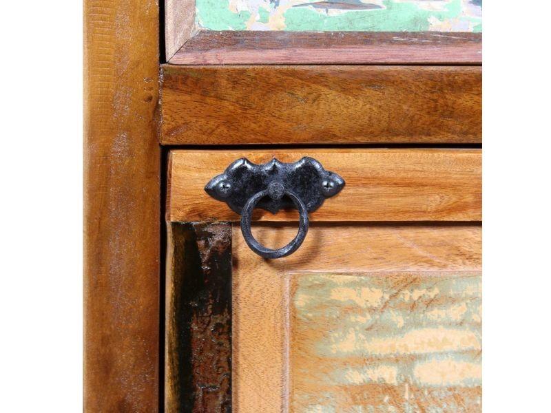 Icaverne - etagères et casiers à chaussures collection armoire à chaussures 4 couches avec tiroir bois de récupération