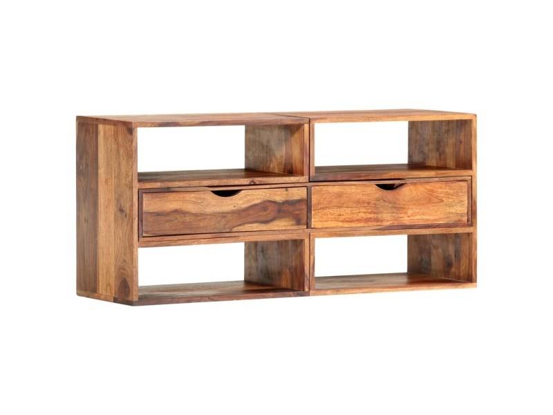 Magnifique meubles ensemble copenhague meuble tv 160x30x45 cm bois massif