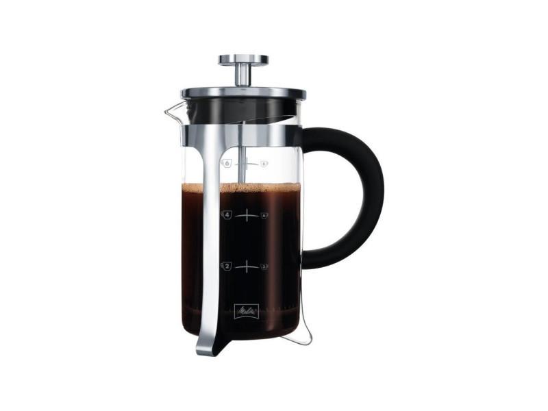 Cafetiere a piston premium en verre et inox 8 tasses MEL3557880000417