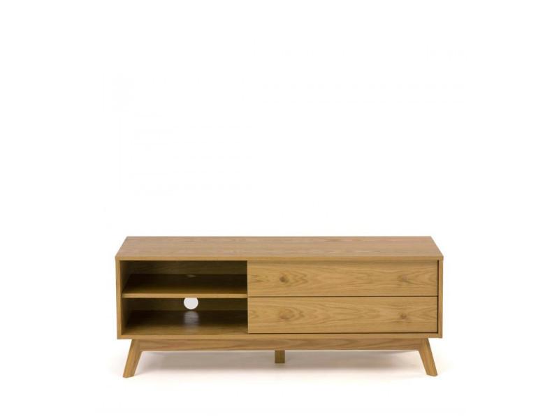 Kensal - meuble tv design bois massif - couleur - bois massif 104224001012