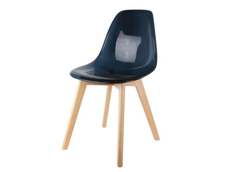 Chaise scandinave transparente h 86 cm noir vente Chaise scandinave transparente casa