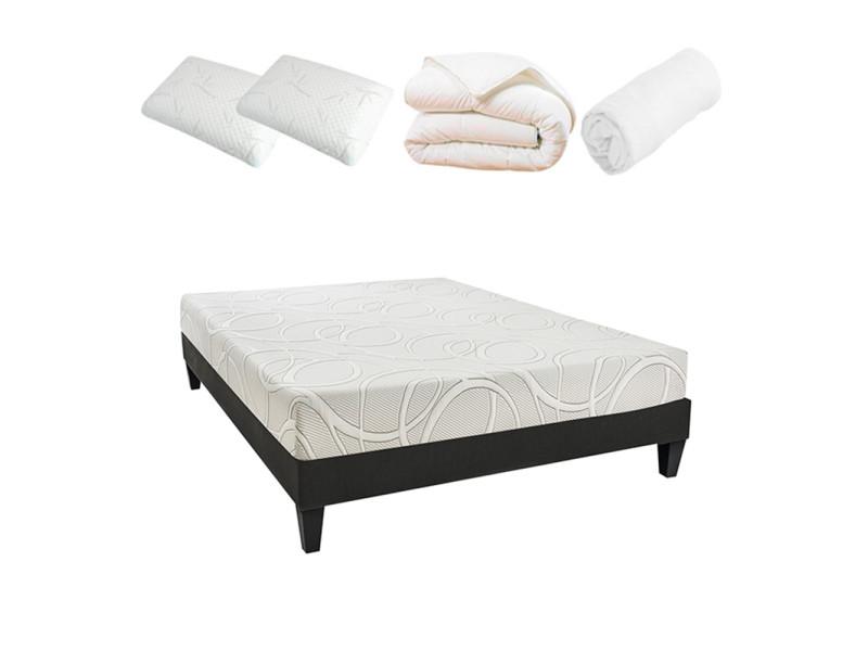 ensemble pr t dormir poseidon 180x200 m moire de forme. Black Bedroom Furniture Sets. Home Design Ideas