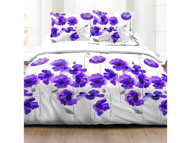 Parure de couette coquelicot - 200x200cm, violet