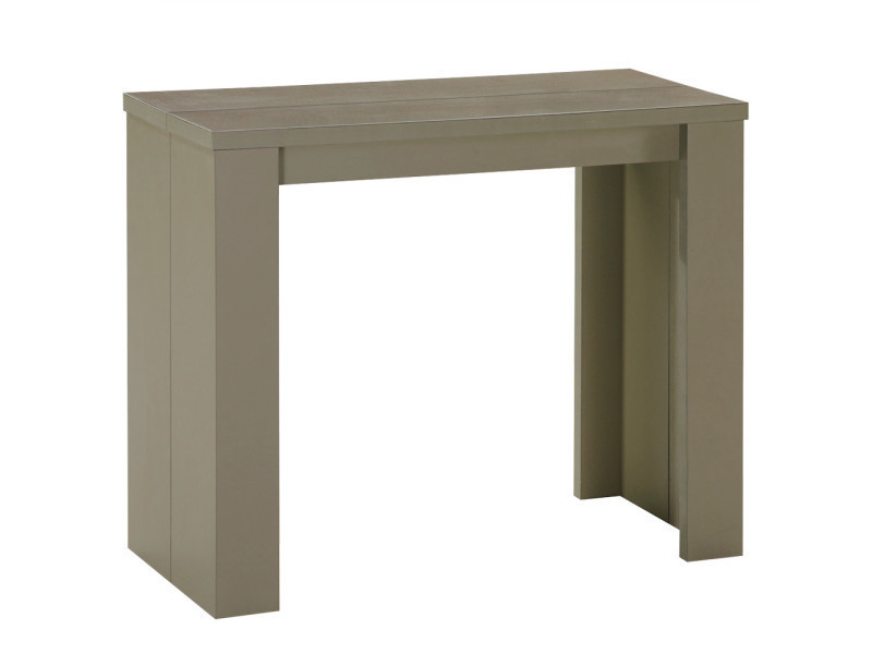 Console Extensible Pas Cher 3 Rallonges Taupe Prisca Conforama