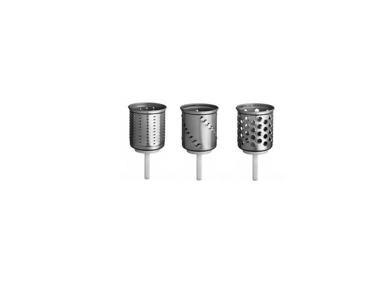 Kit de 3 cylindres pour le tranchoir mvsa du robot sur socle artisan kitchenaid EMVSC