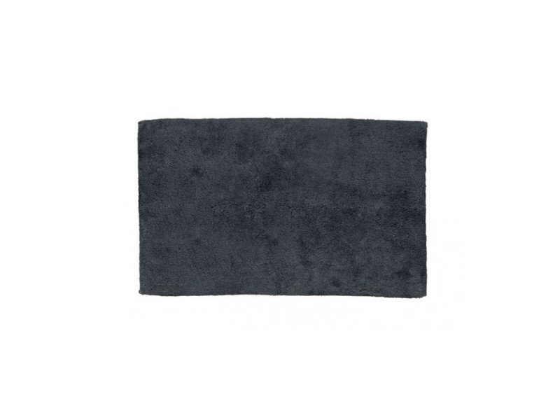 Tapis de bain rectangulaire 100% coton uni gris - 1775g - 65*55cm