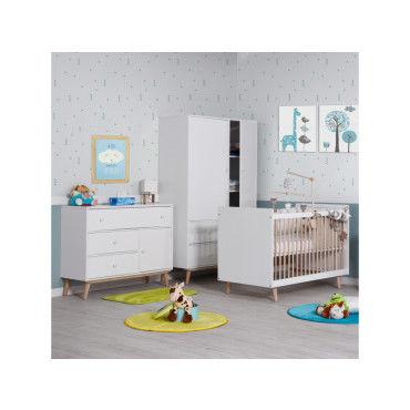 chambre b b compl te blanche happy lb60 a c happy blanc conforama. Black Bedroom Furniture Sets. Home Design Ideas