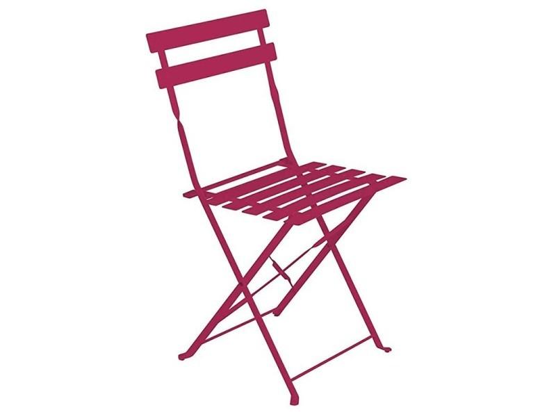 chaise de jardin pliante camargue rouge framboise vente de hesperide conforama. Black Bedroom Furniture Sets. Home Design Ideas
