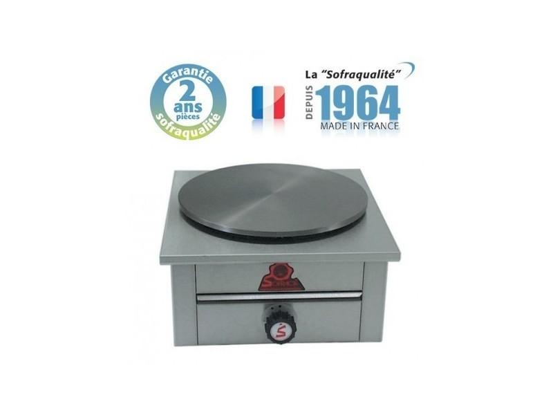 Crêpière gaz - 1 plaque - l 420 x p 420 mm- sofraca -